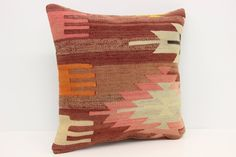 Handwoven Kilim Pillow Cover 18 x 18 Pattern Pillow Ethnic Pillow Organic Pillow Natural Pillow Cushion Cover by kilimwarehouse on Etsy Kilim Pillows, Cushions, Throw Pillows, Natural Pillows, Handmade Pillow Covers, Hand Weaving, Ethnic, Trending Outfits, Organic