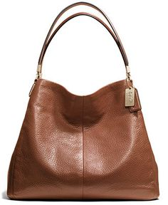 COACH MADISON SMALL PHOEBE SHOULDER BAG IN LEATHER - Coach Handbags - Handbags & Accessories - Macy's