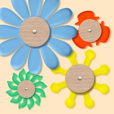 We can't wait to take a walk through the countryside and the flower-filled gardens! In the meantime, here is our own Spring! Educational Toys, Wooden Toys, Countryside, Creativity, Gardens, Spring, Flowers, Kids, Woodworking Toys