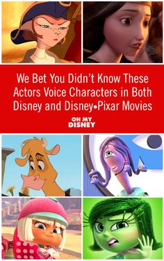 We Bet You Didn't Know These Actors Voice Characters in Both Disney and Disney•Pixar Movies