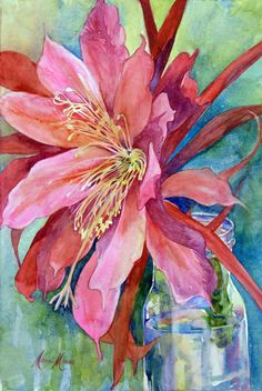Marni Maree is an award winning artist whose vibrant colors are used in watercolors, oils, and sketches. She teaches a variety of art classes in Northern Virginia. Love Painting, Painting & Drawing, Watercolor Flowers, Watercolor Paintings, Watercolors, Arte Floral, Art Techniques, Love Art, Painting Inspiration
