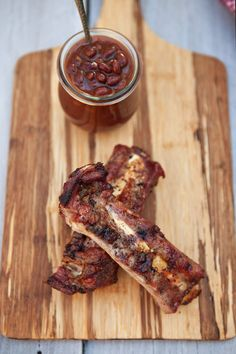 Beef Ribs with a Sweet and Tangy Peppered Glaze: oh lawd!