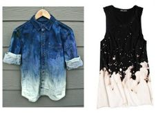 If you want to make boring denim clothes  POP -  try bleaching them.  Use your imagination!