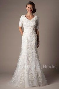 Latter day bride. Love this dress!