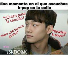 ajjjajaajjaa me paso muchas veses Bts Memes, Btob Kpop, K Pop, Memes Historia, Kim Minseok, Spanish Humor, Silly Faces, I Love Bts, Chanbaek