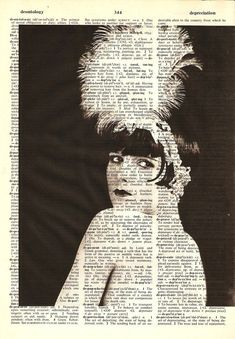 Louise Brooks Flapper - Print on Vintage repurposed paper