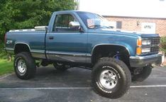 1990 Chevy Silverado Z71 truck with 6'' suspension lift, 35/12.50/15 BJ Goodrich tires, Pro Comp 1069 wheels, Flowmaster exhaust. Truck's just been painted and interior done; has new projection headlights, all new bumpers and trim. Randy Galax ,VA