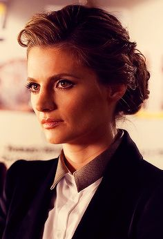 Det. Kate Beckett. She has gorgeous hair. Well, and she's just pretty gorgeous in general.