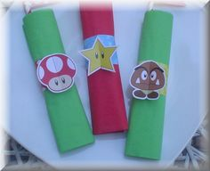 Print-INK Super Mario Bros. A La Carte Napkin Rings by PepitosRoom