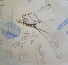"""My friend and student Jon Marshall brought in a great set of hand studies after various masters. We talked about various difficult spots including the knuckles and the """"snuff box"""". Jon's drawings are in blue, my notes are in red and black. Old Head, Anatomy Tutorial, Bring It On, Study, Hands, Friends, Drawings, Illustration, Masters"""
