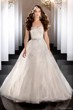 martina liana fall 2013 wedding dress strapless gown