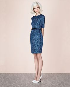 Jaeger London: Ditsy Print Silk Dress