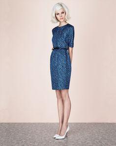 Jaeger London: Ditsy Print Silk Dress