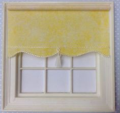 1 12 miniature BLIND for Dollshouse x 5 cms Lemon Yellow Marl House Blinds, Lemon Yellow, Valance Curtains, My Etsy Shop, Miniatures, Dolls, Handmade Gifts, Ebay, Scale