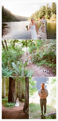 redwood forest campout wedding I want this. Not driving to Crescent City though... We've got the trees here man.  I love how low-key and simple this wedding is, how gorgeous.
