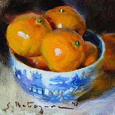 October Mandarins by Elena Katsyura in the FASO Daily Art Show