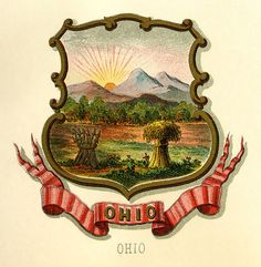 Ohio state coat of arms (illustrated, 1876)