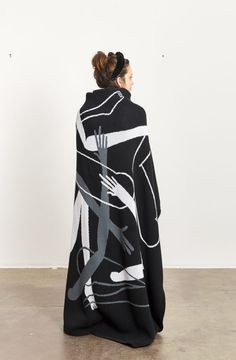 South African artist Nolan Oswald Dennis have partnered with Goodman Gallery to produce the first in a series of cotton, limited edition, knitted textiles, ethically produced by Something Good Studio. South African Artists, Textiles, Studio, Gallery, Cotton, Roof Rack, Studios, Fabrics, Textile Art