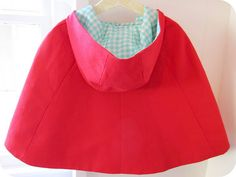 little red cape - Homemade by Jill (from the Oliver + S: little things to sew book)