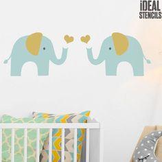 Elephant Nursery Stencil