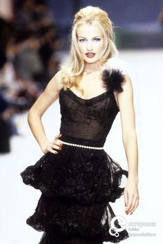 Karen Mulder  - Chanel, Spring-Summer 1995, Couture
