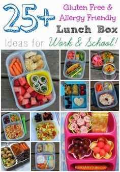25 Gluten Free and Allergy Free School Lunch Ideas #kids food