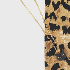 No need for superstitions when you wear this adorable Black Cat Pendant Necklace by Rosita Bonita ($29)!