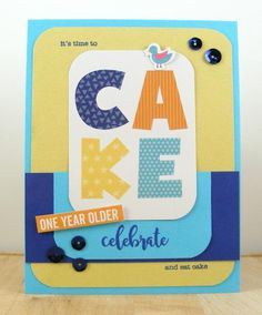 Hampton Art Blog: CAKE card by Beverly Sizemore