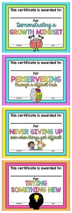 Growth Mindset Certificates *FREE*