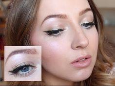 Christmas Holiday Makeup - Black & Gold Liner #christmas #makeup #festive #black&gold #tutorial #holidaymakeup