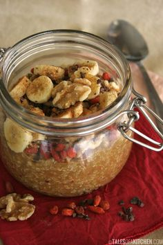 Pear apple quinoa porridge