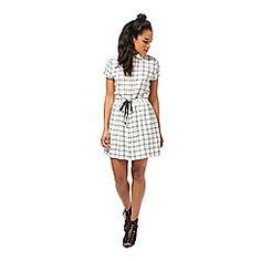 Petites check dress