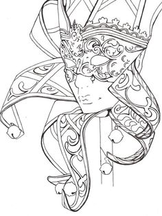 Mask Carnival Fantasy Coloring pages colouring adult detailed advanced printable… Adult Coloring Book Pages, Colouring Pages, Printable Coloring Pages, Free Coloring, Coloring Sheets, Coloring Books, Colorful Drawings, Colorful Pictures, Sketches