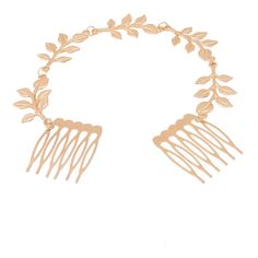 Yoins Golden Leaves Double-comb Hair Accessory (56 ZAR) ❤ liked on Polyvore featuring accessories, hair accessories, gold, hair comb, gold hair accessories, gold leaf hair accessories, hair comb accessories and gold hair comb