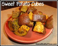 He and She Eat Clean: A Guide to Eating Clean... Married!: Clean Eat Recipe :: Sweet Potato Cubes