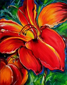BELOVED RED LILY-ΜΑRCIA BALDWIN