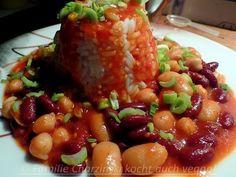 Kichererbsen treffen Bohnen am Reisturm - Familie Charzinski kocht auch vegan