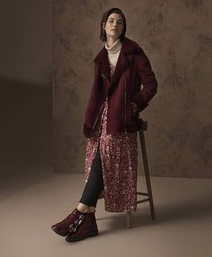M&S Collection coat, £59, M&S Collection polo neck, £15, M&S Collection dress, £45, Limited edition jeans, £35, boots, £75.