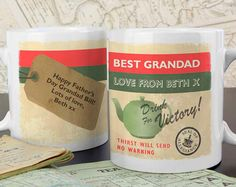 This Nostalgia personalised mug is a great gift for him on any occasion. The mug can be personalised on the front with a message over 2 lines up to 20 characters on each line.