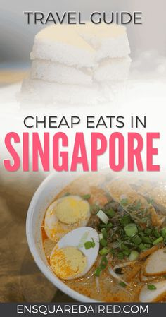 10 Of The Best Cheap Food In Singapore | Are you looking for a good food guide for Singapore? Click on this post for photos and guides for street food, snacks and delicious dishes like Laksa that you'll find in Hawker food courts and markets. #singapore #