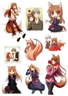 Стикеры Spice and Wolf Tape 01 Spice And Wolf Holo, Wolf Deviantart, Blue Purple Hair, Wolf Children, Fox Girl, Waifu Material, Fanarts Anime, Anime Wolf, Vampire Knight