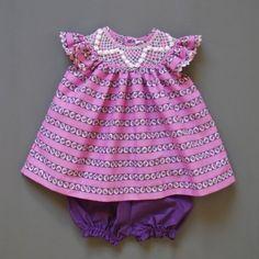 Heidi smocked baby dress - Coquito