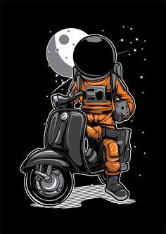 Wallpaper Space, Galaxy Wallpaper, Cartoon Wallpaper, Astronaut Illustration, Moon Illustration, Free Vector Illustration, Astronaut Wallpaper, Site Logo, Space Drawings