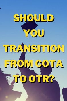 Should you make the switch from being a COTA to an Occupational Therapist? Here are the biggest pros and cons to help you decide! #cota #ot #occupationaltherapy Occupational Therapist, Find A Job, Therapy, Holidays, School, Tips, Holidays Events, Occupational Therapy, Holiday