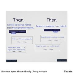 Education Bytes: Than & Then Poster