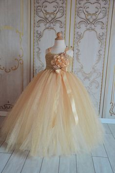 All that Glitters is Gold flower girl tutu by TutuSweetBoutiqueINC, $60.00