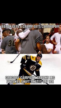 Hockey players are tougher than leather...