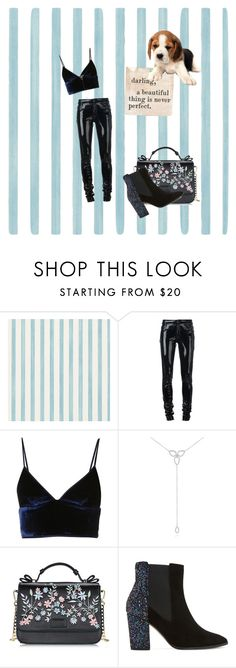 """""""Night Out"""" by jessica-kerala ❤ liked on Polyvore featuring Christian Lacroix, Anthony Vaccarello, T By Alexander Wang, KC Designs, Dune and Sugarboo Designs"""