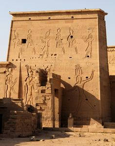 Egypt Philae, Temple dedicated to goddess Isis.