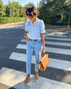 Instagram Look, Outfit Look, Work Looks, Mom Jeans, Summer Outfits, Spring Summer, Pants, Fashion, D Day